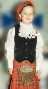 Young boy Scottish